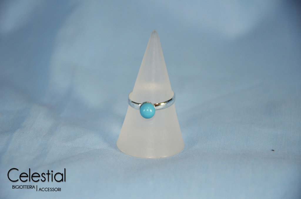 Anello perla - Turquoise