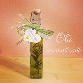 Bomboniera bottiglia d'olio extravergine aromatizzato