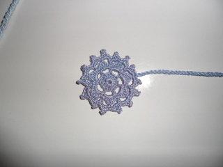 Segnalibro Snowflake Azzurro