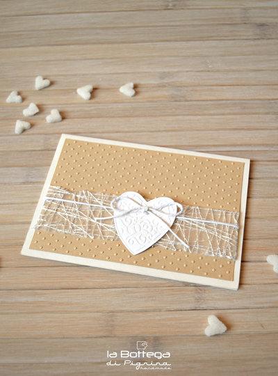 Partecipazione per Matrimonio con Cuore
