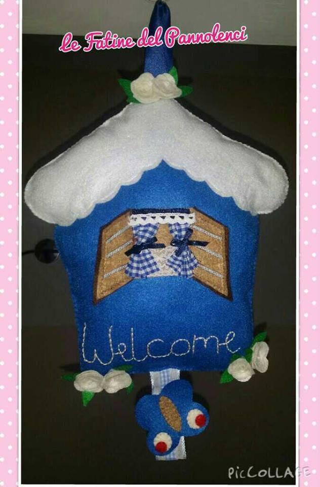 Casetta fuori porta welcome in pannolenci