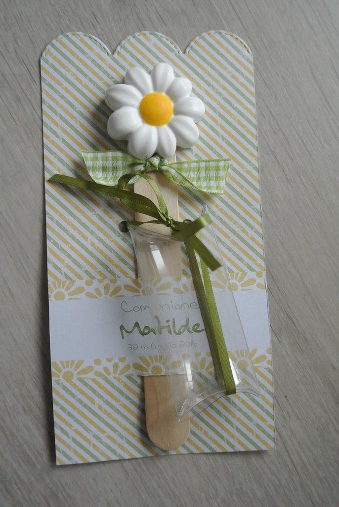 Bomboniera segnalibro fiore ceramica