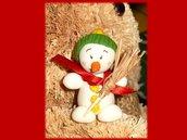 Pupazzo di neve- decorazione natale