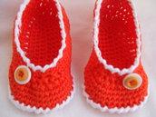 scarpine neonati uncinetto lana o cotone