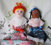 Bamboline di pannolenci profumate