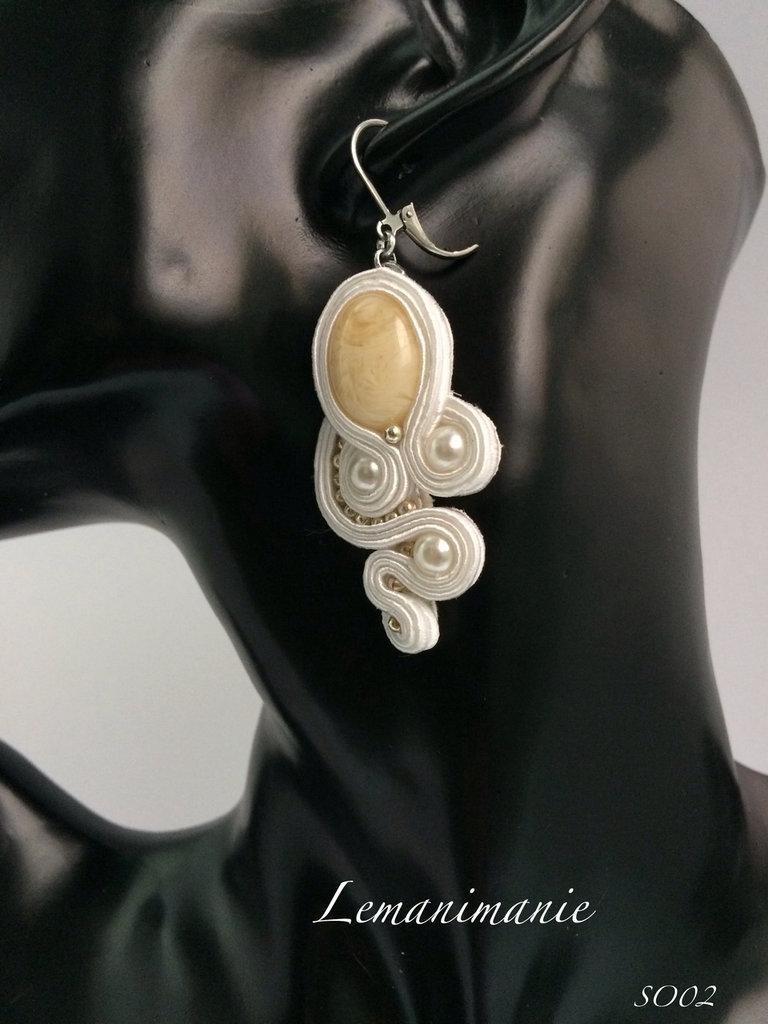 #orecchini #soutache #bianchi #cerimonia #pendenti #Lemanimanie