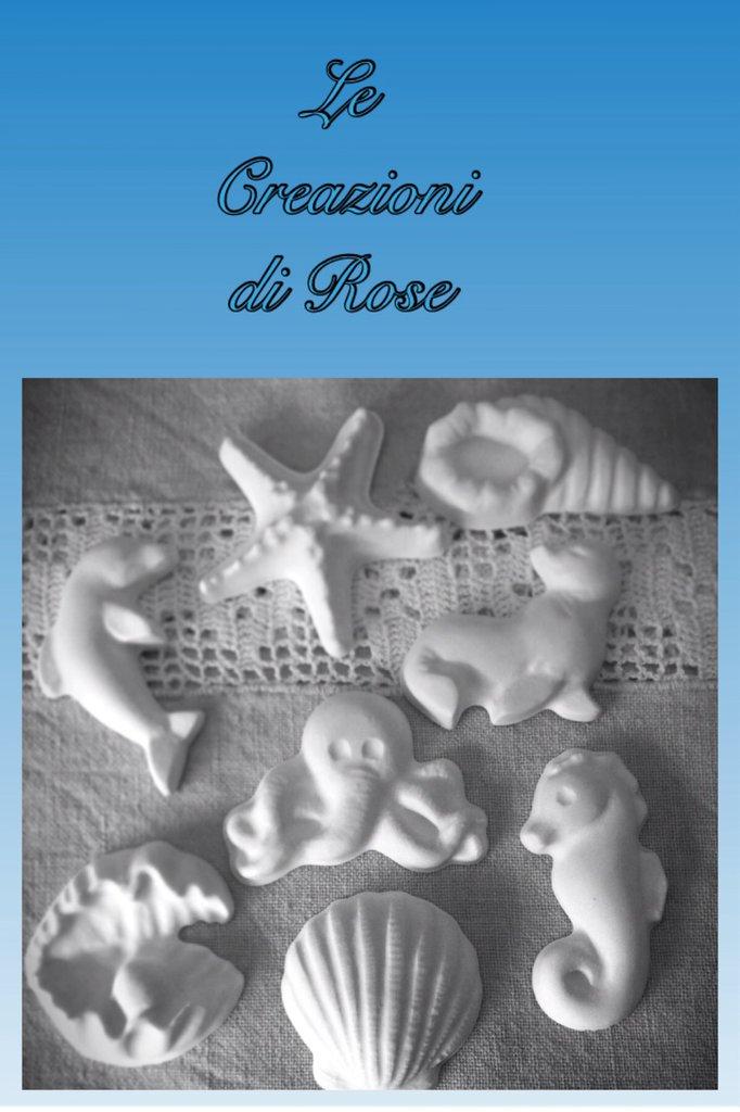 Gessi gessetti profumati bomboniera battesimo nascita comunione mare
