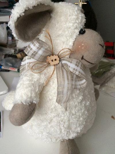 Coppia pecorelle pasquali, idea regalo addobbo decoro,