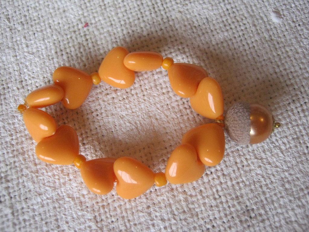 BRACCIALETTO GHIANDINA arancio