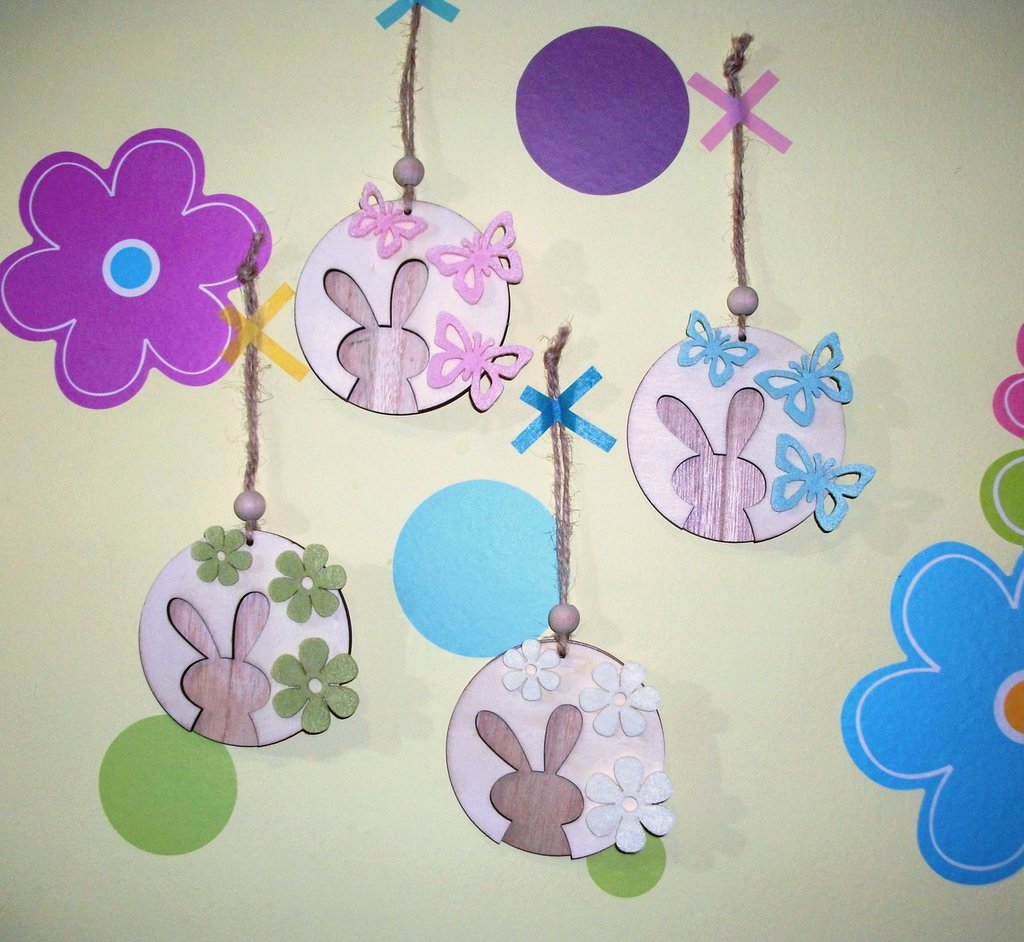 Pasqua Collection^^ -Coniglietti Decorativi da appendere!
