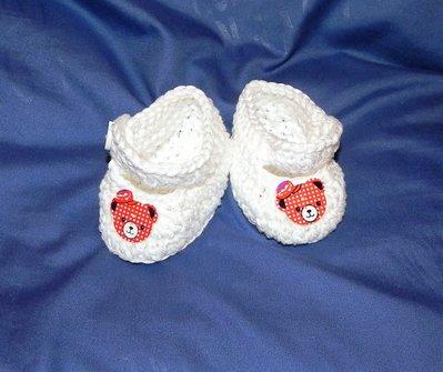 SCARPINE cotone NEONATO uncinetto scarpette PANDA