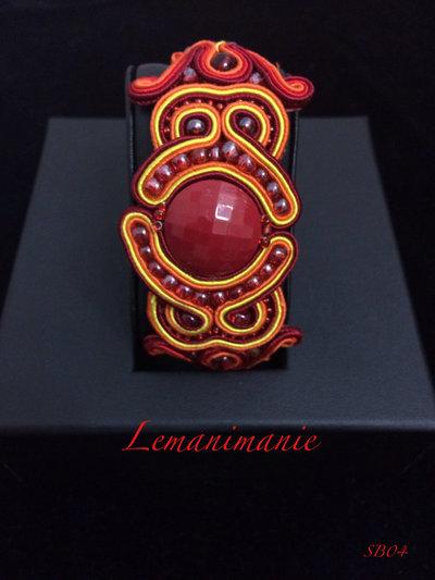 #Bracciale #rosso #soutache #Lemanimanie