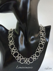 Collana chainmaille alluminio