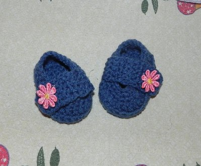 Scarpette neonato in lana   realizzate ad uncinetto