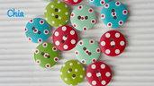 10 bottoni legno pois 15mm diametro