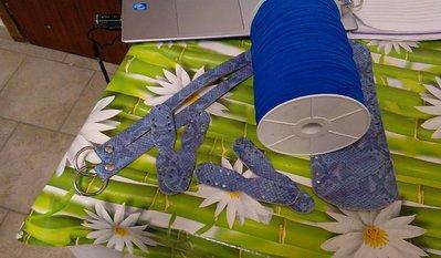 kit tulle azzurro  con set