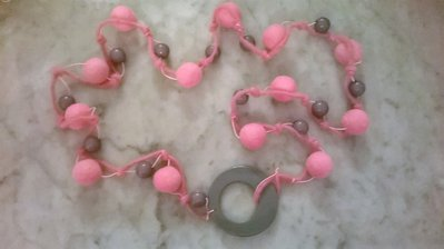 Collana Inverno tenero rosa