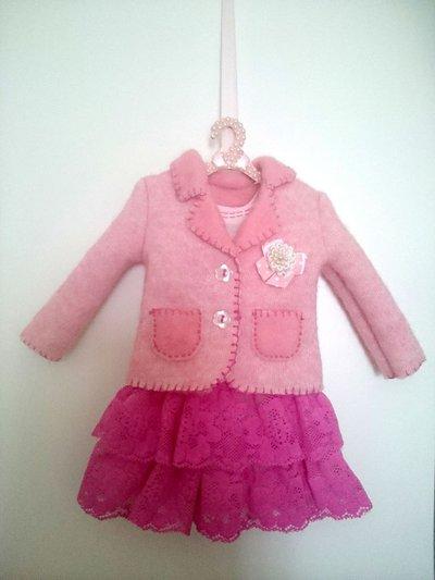Fiocco nascita rosa modellino in miniatura