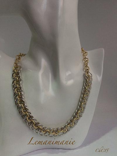 #collana #chainmail #alluminio #oro