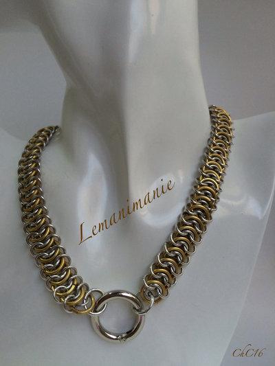 #girocollo #chainmail #alluminio-oro