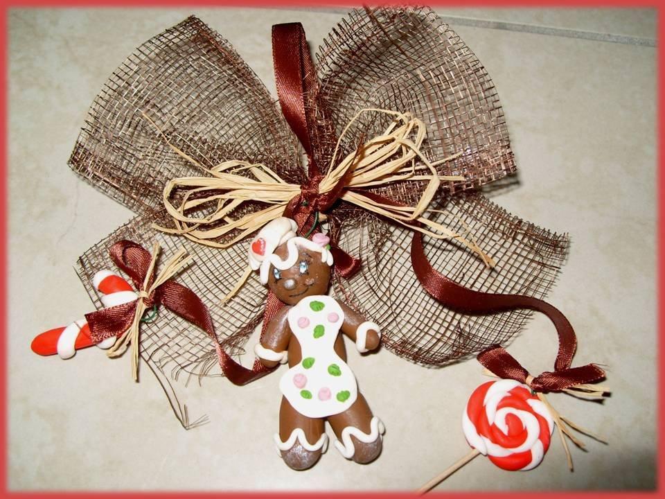 Ghirlanda decorazione Natale gingerbread