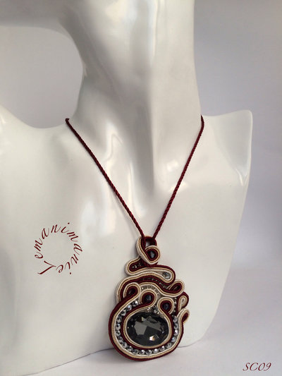 #ciondolo #soutache #bordeaux