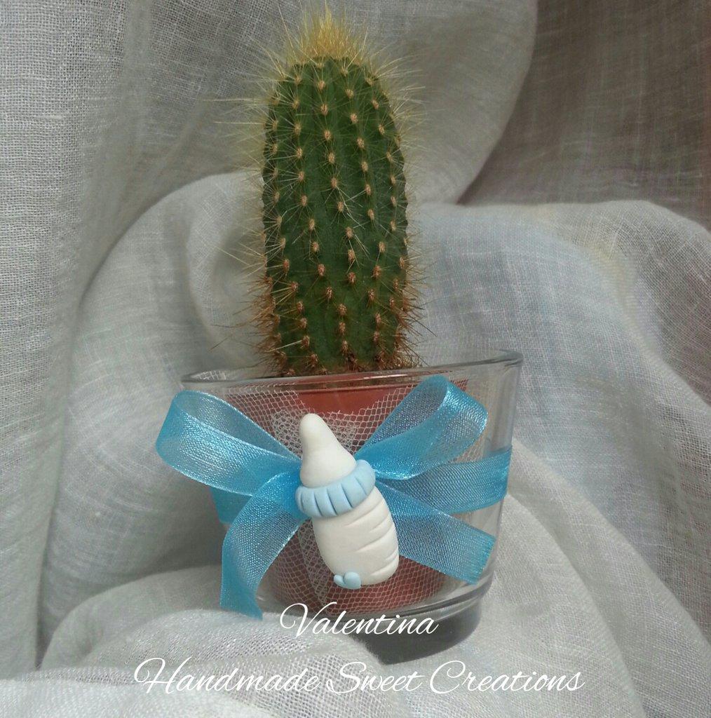 Porta candelina biberon- bomboniera battesimo bimno