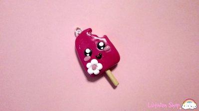 Ciondolo gelatino rosa