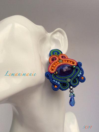 #orecchini #soutache #colorati #grandi