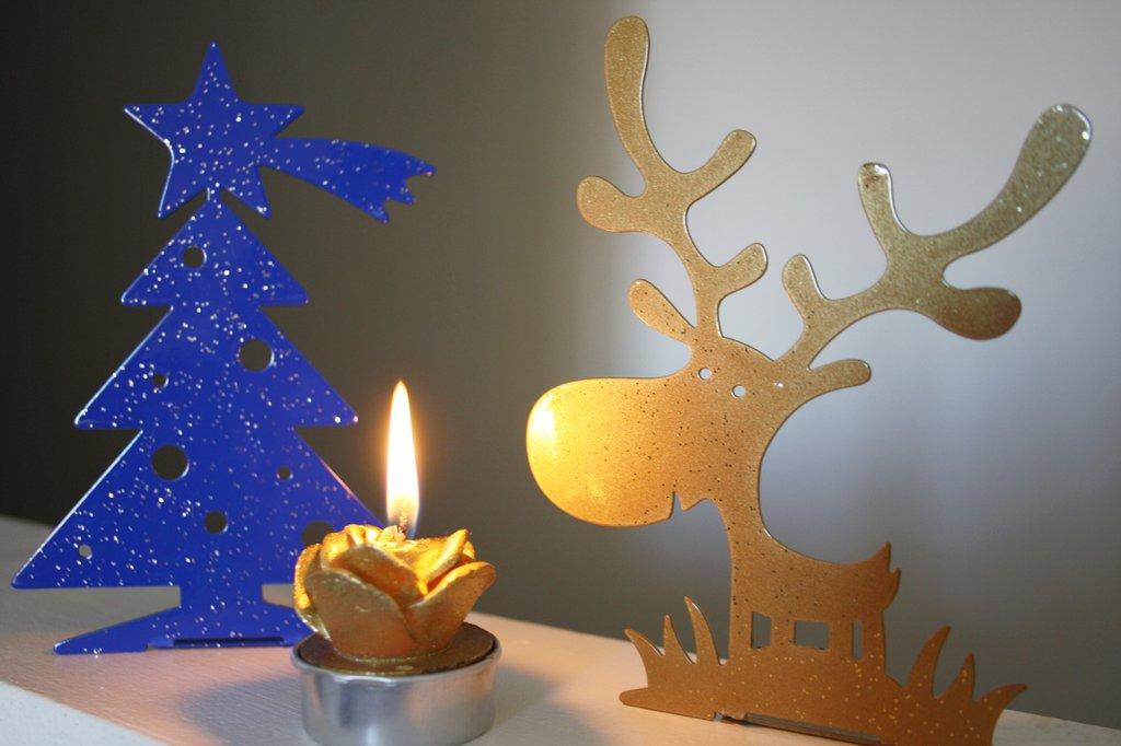 RENNA 3D - Decori natalizi - Portacandele