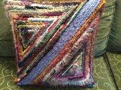 Cuscino crochet geometrico