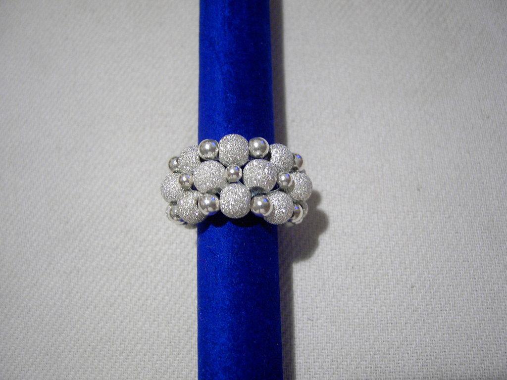 Anello argento diamantato piccolo