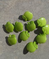 10 bottoni mela 16x16mm