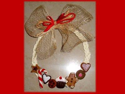 Ghirlanda con dolcetti
