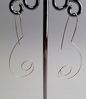 Orecchini pendenti in alluminio argentato