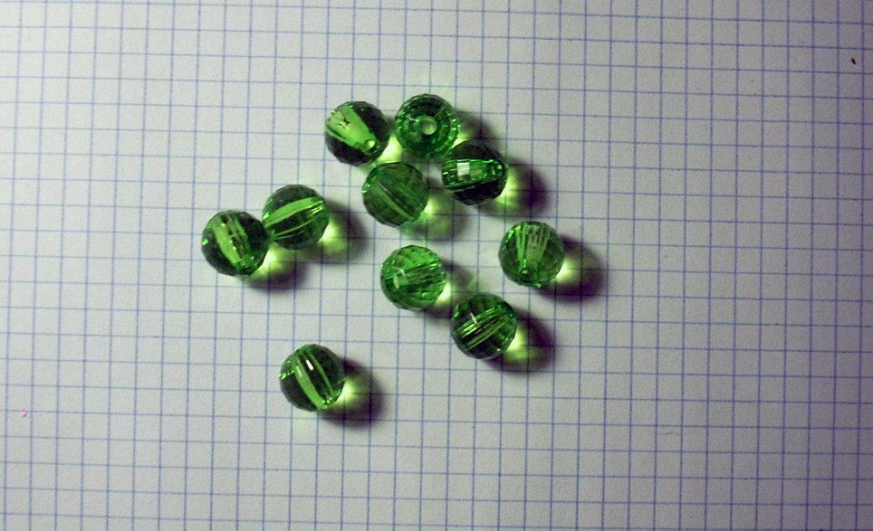 """10 perle verdi """"globe"""" 1 cm"""