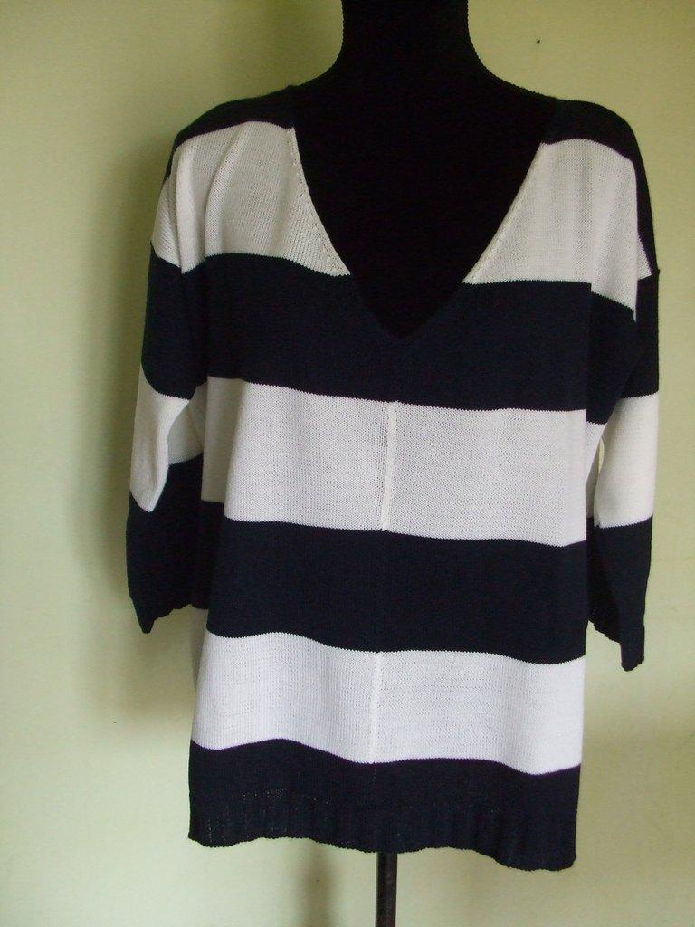 maglia donna righe lana o cotone