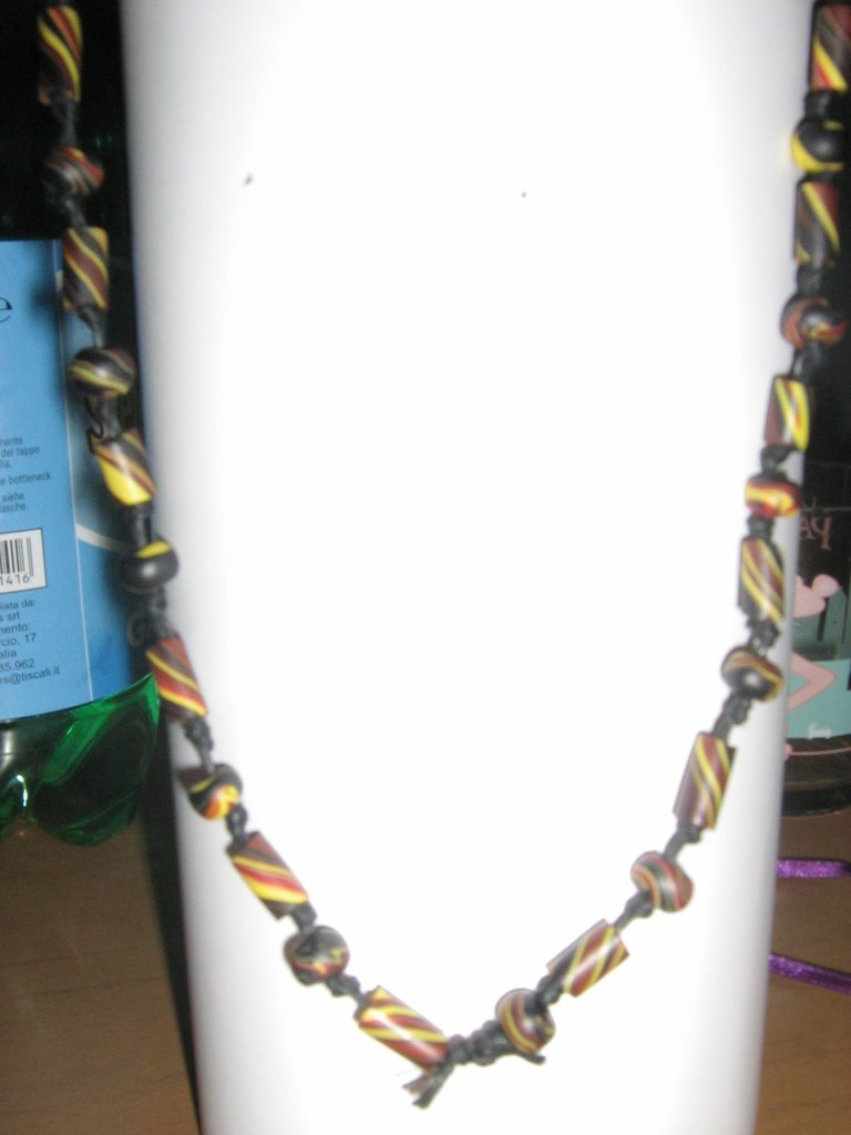 Collana in argilla polimerica