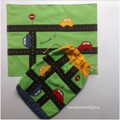 Set personalizzato scuola sacchetto e tovaglietta