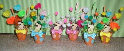 Vasetti in Terracotta Decorativi con Coniglietti^^ Primavera Edition!