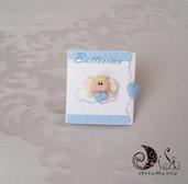 Card Art Invito battesimo angioletto per bimbo