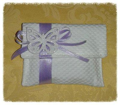 Bustina bomboniera portaconfetti per matrimonio, nascita, battesimo, comunione, cresima