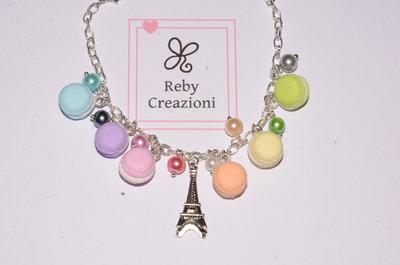 Bra009- Braccialetto Macaron arcobaleno