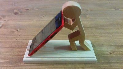 casa portacellulare da tavolo in legno fatto a mano