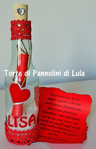 Idea regalo San Valentino-Messaggio bottiglia personalizzata-amore-anniversario-