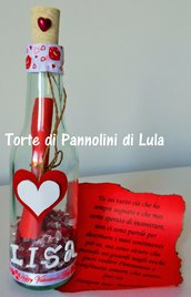 Idea regalo San Valentino uomo donna Messaggio amore bottiglia personalizzata anniversario lui lei