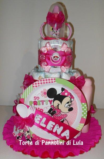 Torta di Pannolini Pampers Baby Dry- idea regalo, originale ed utile, per nascite, battesimi e compleanno