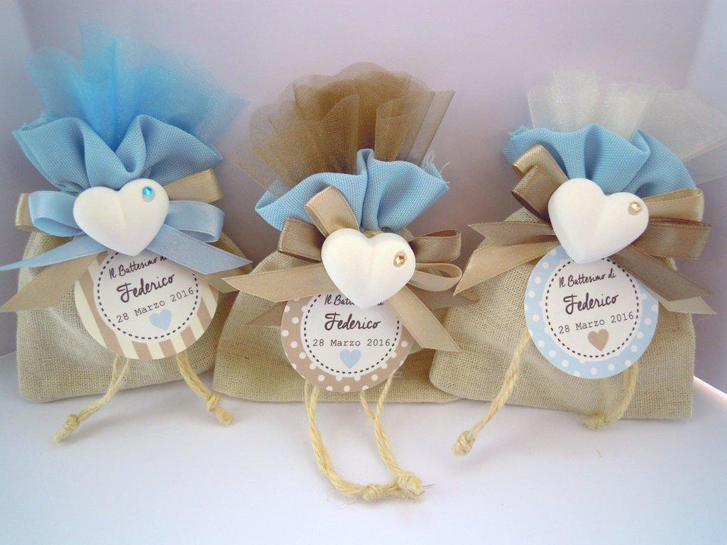 sacchettini porta confetti e gessetto profumato