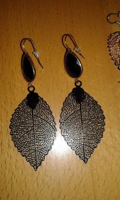 belle orecchini foglie