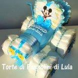 Torta di Pannolini Pampers Trattore- idea regalo, originale ed utile, per nascite, battesimi e compleanni